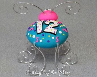 Birthday Bug with birthday age - Lucky Bug