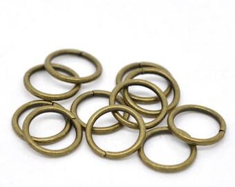 20 rings open 10 x 1.2 mm round bronze