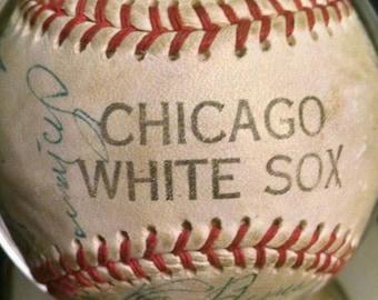 1957 / 1958 Chicago White Sox Team Signed Ball