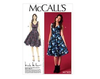 McCall's 7503 - Sleeveless, V-Neck Dresses