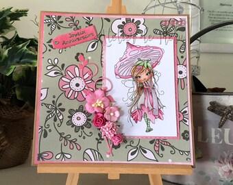 Birthday girl or woman - Polkadoodles card - Octavia Moonfly