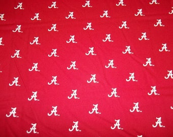 "University  of  ALABAMA    ""CRIMSON TIDE ""  "" A "" Style Design- 1/2 Yard  Piece - 100% Cotton  New Design"