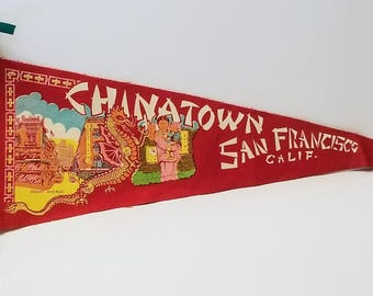Chinatown, San Francisco, California - Vintage Pennant