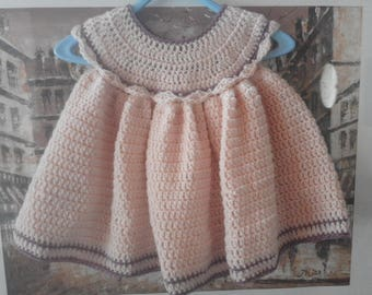 PATTERN Crochet baby dress 0-3m