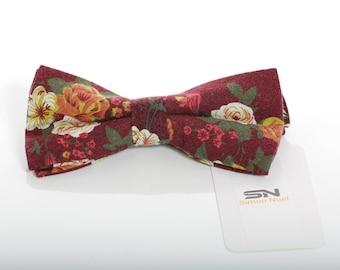 Bow Tie, Pre-Tied Bow tie, Groomsmen Wedding Bow Tie , Wedding Floral Bow Tie, Men Bow Tie