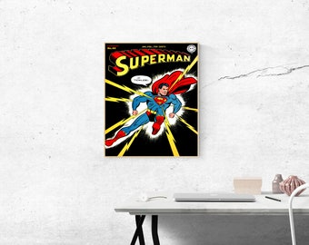 Superman Comic Artwork Poster Wall Decor