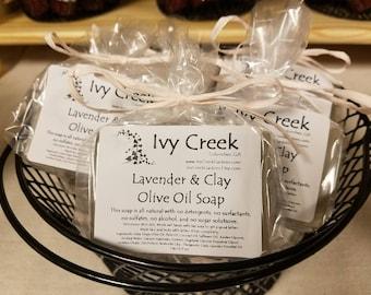 Lavender & Clay Olive Oil Soap, Natural Soap, Holistic Soap, Lavender Soap, Clay Soap, Essential Oils