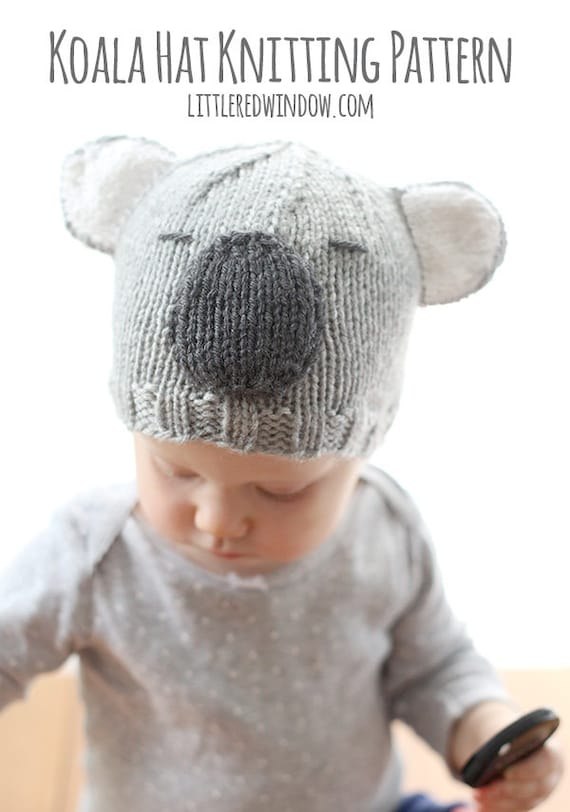 Koalabär Hut Baby STRICKMUSTER / Koala Bär Muster / Koala Bär