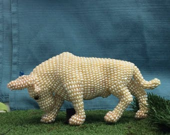 Handmade Pearl Bull