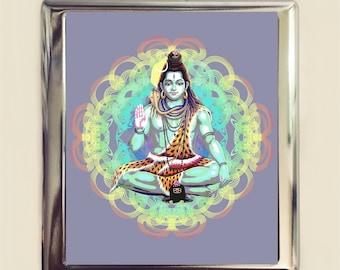 Shiva Hindu Cigarette Case Business Card ID Holder Wallet Hinduism Spiritual Spirituality Metaphysical