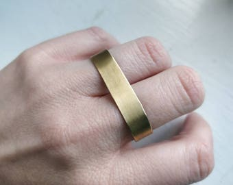 Double Finger Brass Band Ring