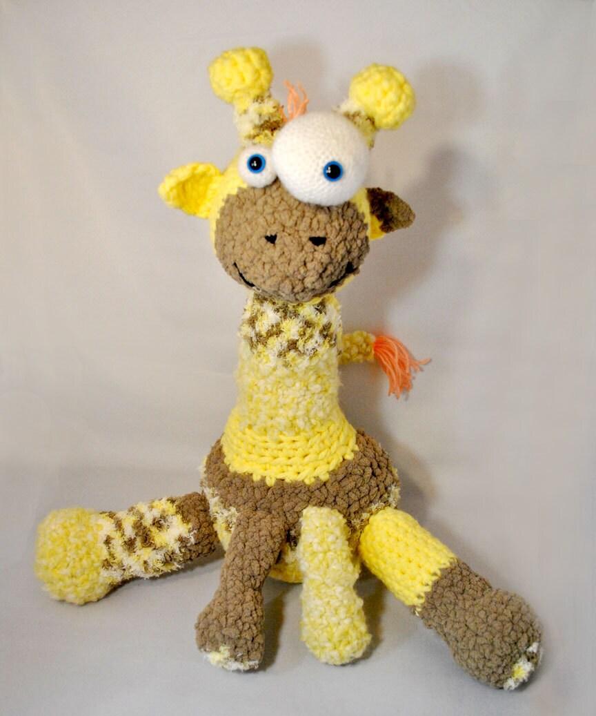 Crochet Pattern - Plush Goofy Giraffe - Amigurumi - Zoo animal from ...