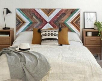 Wood Headboard, Reclaimed Wood Headboard, Wood Headboard Queen, Wood Headboard King, Wood Wall Art, Geometric Wall Art, Wood Art