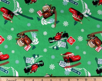 Disney Cars Holiday Fuel Time Fun Fabric Green From Springs Creative