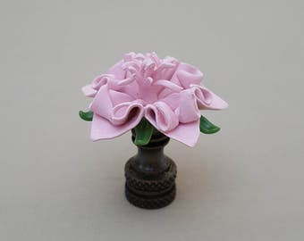 Star Flower...Hand Crafted Lamp Finial in Custom Colors