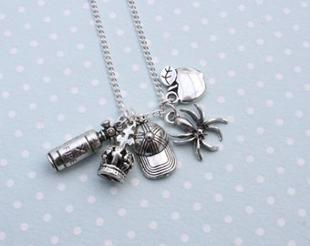 Moriarty necklace Cluster necklace Jim Moriarty James Moriarty Sherlock necklace Sherlock Holmes Sherlock jewelry Spider necklace IOU