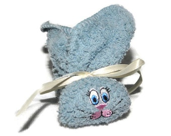 Stocking Stuffer Bunny Ice Pack Boo-boo Bunny Embroidered for Baby, Shower, Gift Basket Light Denim Blue Rabbit Stocking Stuffer