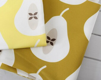 STUDIO SALE - Large Pear in Mustard amd Yellow Fabric Scrap Pack
