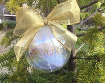 Glass bauble, Christmas, gift idea, tree decoration