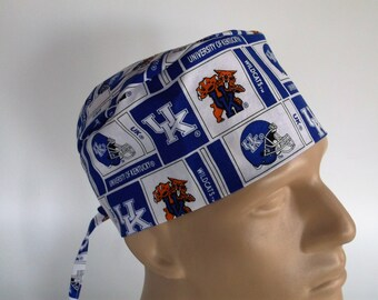 Kentucky Wildcats -  Men's Surgical Scrub Hat  with sweatband option, scrub cap, bakers hat,f-100