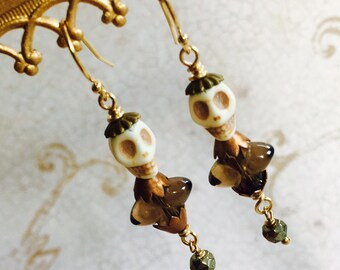Smokey Quartz Shull Earrings