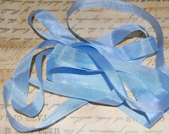Baby Blue Vintage Seam Binding Ribbon
