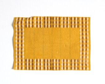 Miniature Rug, Dollhouse Rug, Gold Dollhouse Rug, Yellow Dollhouse Rug, Striped Dollhouse Rug, Brown Dollhouse Rug, Dollhouse Carpet