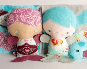 SALE Wittle Whimsy Seraphina Mermaid PDF Doll Pattern