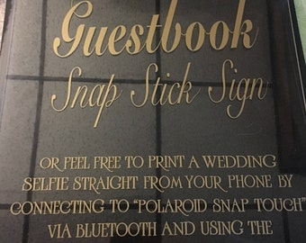 Custom Acrylic Wedding Sign - Welcome Sign - Guest Book Sign - Table Numbers - Custom Made Wedding Decals