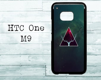Amazing Universe Triangle Deer Hipster - black HTC One M8/M9/M10 case - Amazing animal Cosmos Nebula phone HTC One case, HTC cover