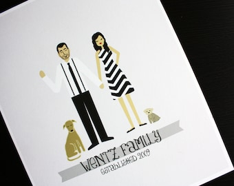 Family Portrait : Custom Illustrated