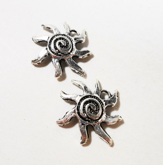 10pcs silver sun charms 18mm antique silver spiral sun charm sun 10pcs silver sun charms 18mm antique silver spiral sun charm sun pendants metal charms for bracelets and jewelry making craft supplies from aloadofball Gallery