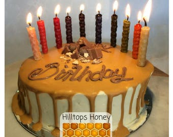 100% pure natural Beeswax Birthday Candles