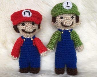 Mario and Luigi inspired dolls!