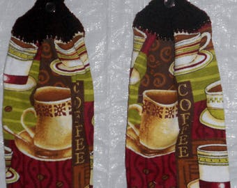 Set of Two  Coffee Variety Kitchen Towels