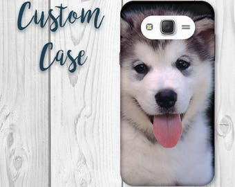 For Samsung Galaxy J7 Case (Boost) / SM J700 (2015) (2016) Custom Photo Case, Design Your Own Personalized Case, Monogrammed Phone