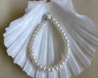Freshwater cultured pearl Silver Bracelet