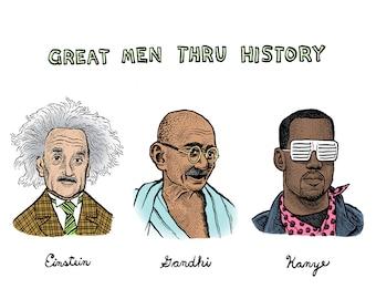Great Men Thru History Print