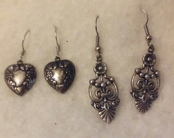 Two Pair of Dangle Style Earrings