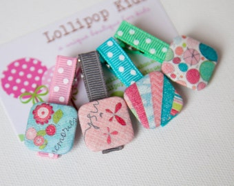 Hair Clip for Babies Fabric Covered Button Hair Clip Baby Hair Clip Girls Hair Clip No Slip Hair Clips Hair Clips for Fine Hair