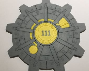 3D Printed Fallout Vault Door Coaster / Plaque