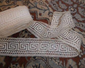 Vintage Cream Bobbin Lace Trim Edging in Metre Lengths