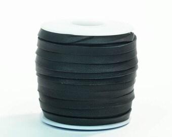 Black Deerskin Lacing - (1) 50 foot spool, 3/16th inch lace (297-316x50BL)
