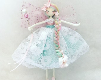 Fairy doll, whimsical doll, ornamental doll, birthday gift, bridesmaid gift, girls gift, the fairy trail