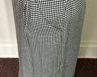 1980's Vintage Gingham High-waist Skirt