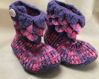 Dragon scale slipper, handmade