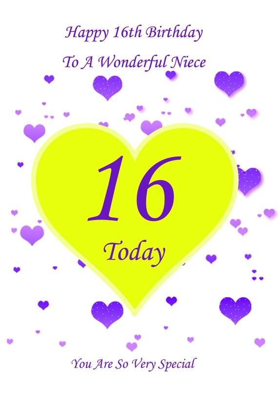 Niece 16th Birthday Card