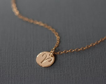 Aries Necklace - Gold Filled Hand Stamped Zodiac Jewelry - Zodiac Sign