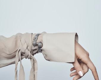 Victorian Silver Bracelet Cuff