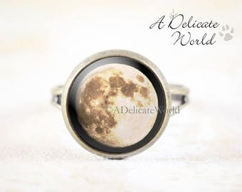 Full Moon Ring - Original Moon Photography Jewelry, Lunar Ring, Moon Jewelry, Astronomy Ring, Space Ring, Lunar Jewelry, Astronomy Jewelry